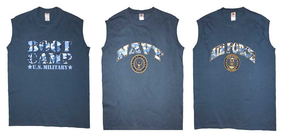 2e1604435f27 US Military Style Sleeveless Muscle T-Shirt (NAVY)