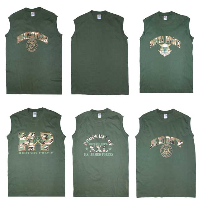 70b4902e US Military Style Sleeveless Muscle T-Shirt (OLIVE) > Army Surplus ...